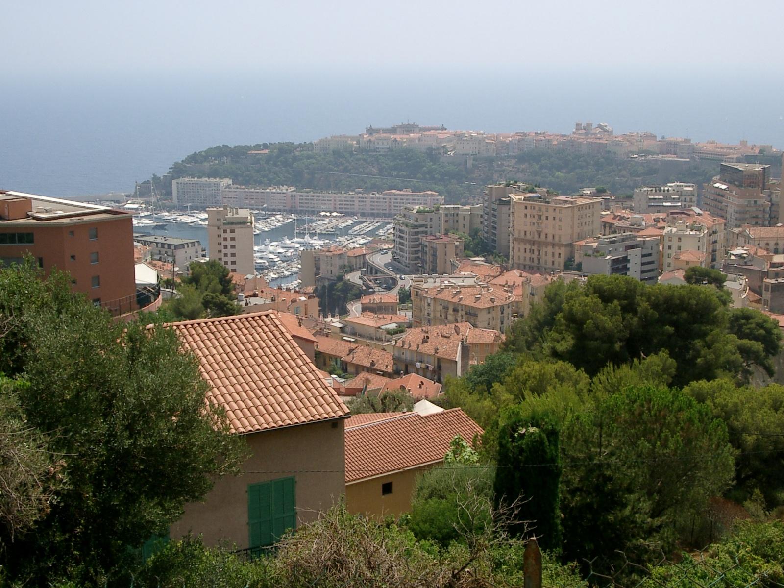 erhabener Blick über Monaco