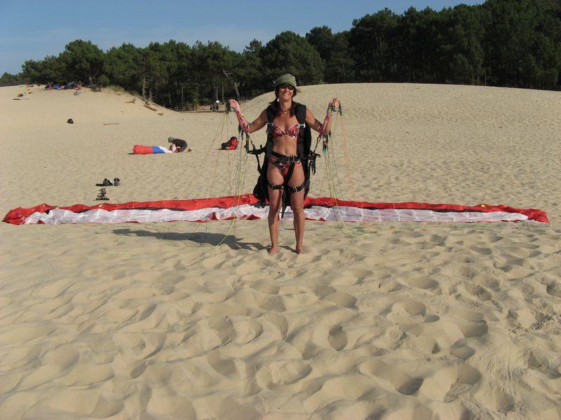 16.06.2006: Dune de Pyla - Barfuß-Soaring bis der Arzt kommt...