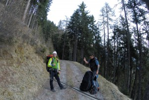 1: Obersteirische XC-Hochkaräter beim Aufstieg: Werner und René