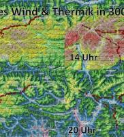 2: XCSKies Wind & Thermik in 3000m