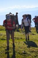 Einzug der Gladiatoren um 8:20 Uhr; man beachte die Bummerl am Alpenhauptkamm