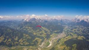 18: ...über Bischofshofen (rechts unten) hinweg gemeinsam mit Werner anzusetzen