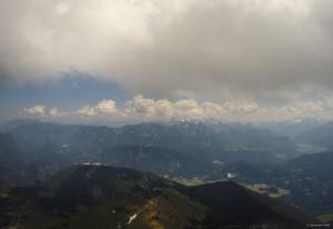 34: Blick zurück vom Sonntagshorn (an der Grenze zu D) auf den Abflugpunkt Mühlsturzhorn