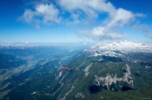 6: Und los geht's! Aus Werners Perskeptive Richtung Dachstein...