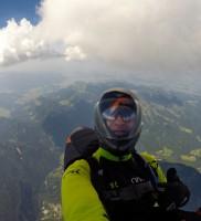 12: Time to say goodbye: Nochmal rauf an die Wolken-Basis über dem Gurnwandkopf und dann ab retour ins Ösi-Land