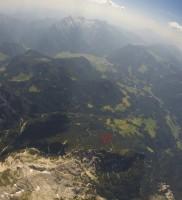 15: Kurz vor der Basis dockte Vollgas-Berni ebenfalls ans Mühlsturzhorn an – SUPER – bald zu zweit!