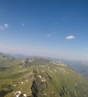 29:… den der Blick vom Alpenhauptkamm zurück nach NO war zwar herrlich, sah aber bereits nach sterbender Luft aus…