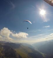 Mi_7: Mit Hermann Raninger beim Abflug ins Defreggen-Tal auf Höhe Staller Sattel