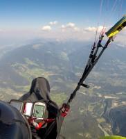 Di_22: Nach grandiosem Vorbeifliegen am Hammerbart an der Kampelespitze (Wipptal) – ging's dann doch auf über 3900m hoch und weiter Richtung Lüsen; bei starkem Gegenwind-Saufen hatte ich trotzdem nicht mal 300m Reserve bei der Lüsen- Ankunft!