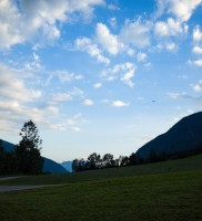 Mi_38b: In der Ferne taucht ein Punkt auf – das bin ja ich :-) (Foto von Werner Luidolt)
