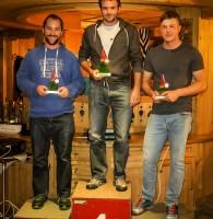 1: Newcomer-Podium: 1. Raphael Würtl, 2. Erich Hinterholzer, 3. Alexander Lerch