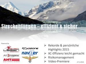 Streckenfliegen - effizient & sicher