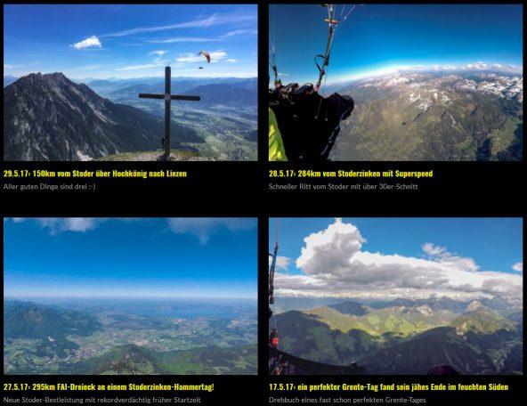 4 (!) neue Foto-Stories: Grente- und Stoder-Rekordflüge vom Mai